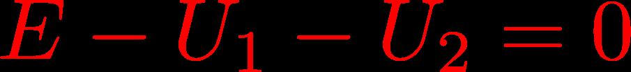 napięciowe prawo kirchhoffa dla oczka 1