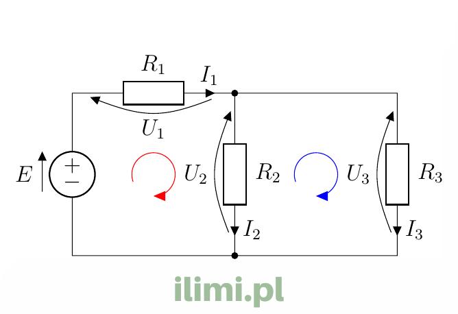 napięciowe prawo kirchhoffa dwa oczka