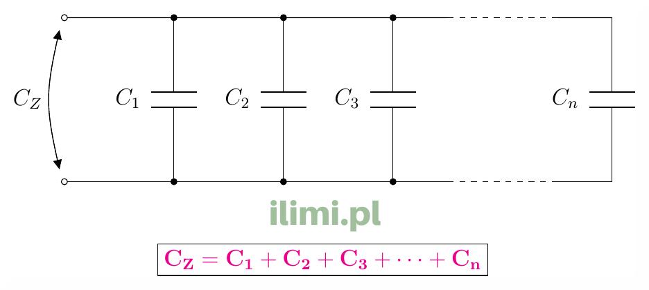 równoległe połączenie kondensatorów