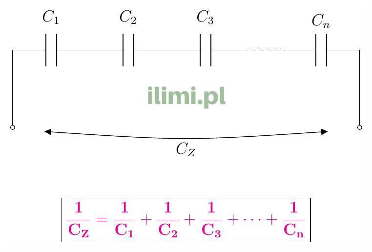 szeregowe połączenie kondensatorów